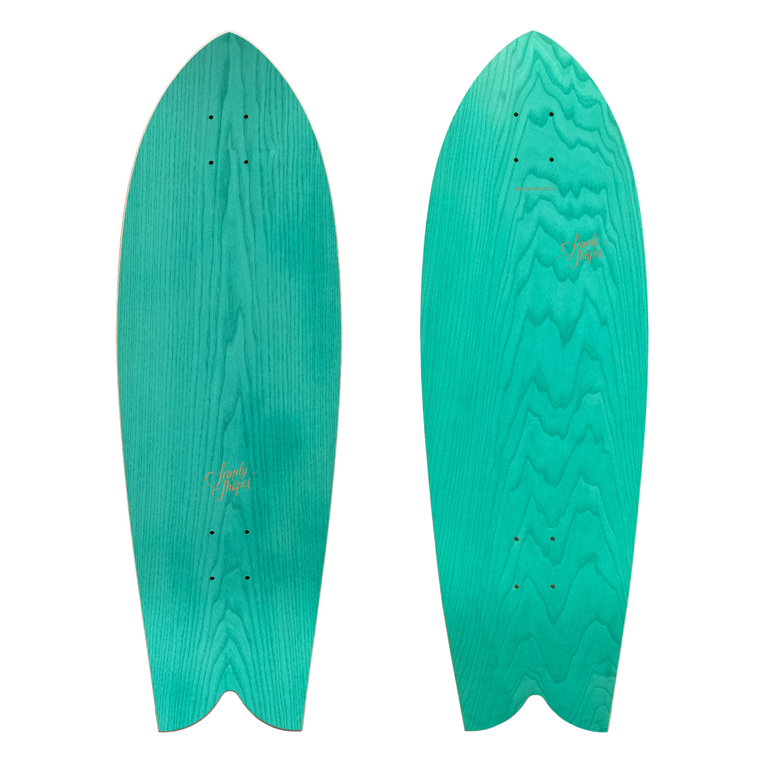 Surfskate tropicale Sandy shapes verde